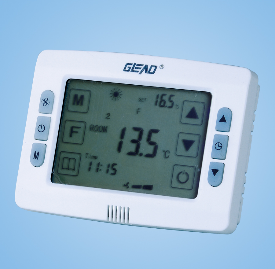 Six - type digital LCD thermostat