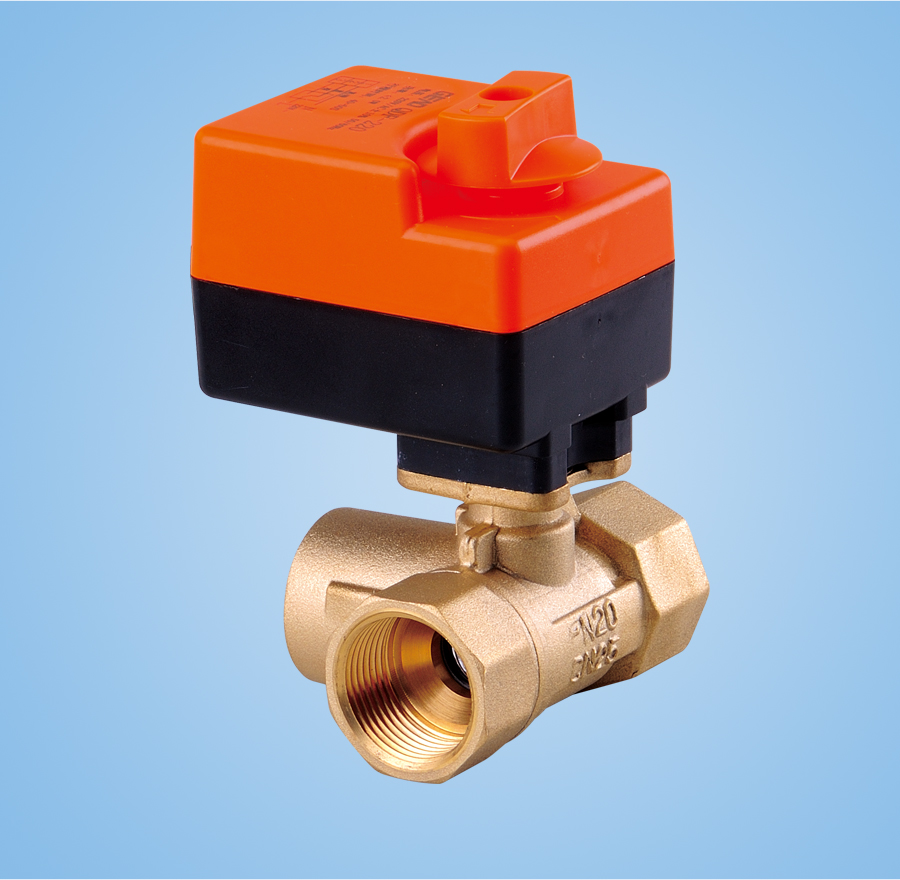 Three - way electric ball valve